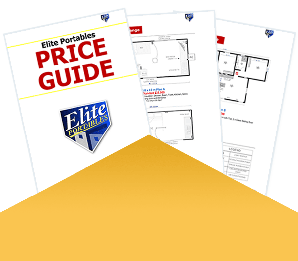 Elite Portable's 3 page brochure step by step price guide